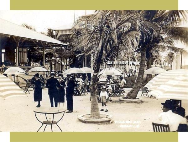 Terraza de Villa del Mar, alrededor de 1922.