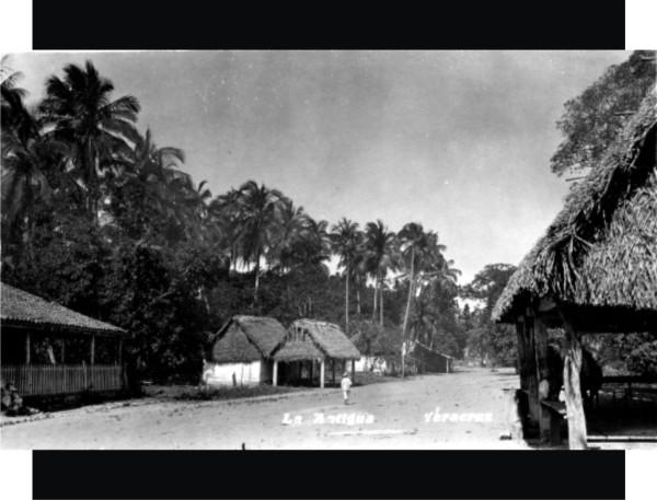 Calle de la antigua Veracruz, posiblemente, a mediados del siglo XX.