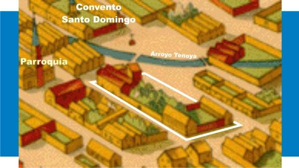 Cuadra que describió Francisco del Paso y Troncoso y que atribuyó era propiedd de la Inquisición.