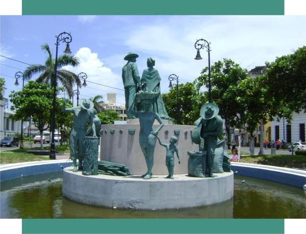 Escultura colocada alrededor de 2010 en una de las fuentes ya existentes. y se quito en el 2014.